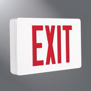 Cooper Lighting CX72WH Eagle Eye™ LED Self-Powered CX Series Exit Sign; 120/277 Volt AC, Die-Cast Aluminum, White Housing, Red/Green Letter