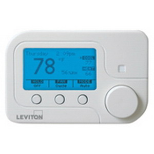 Leviton RC-1000WH Omnistat2 Conventional and Heat Pump Thermostat; 2 Amp, White