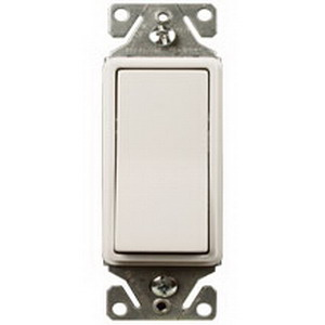 Cooper Lighting GMDS-W Momentary Decorator Switch; 24 Volt AC/DC, 3 Amp, White