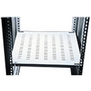Hoffman PFSH106 PROLINE™ Vented Frame Shelf; Vertical Mount, 37.32 Inch Width x 19.68 Inch Depth, Steel, Painted Steel, Light Gray