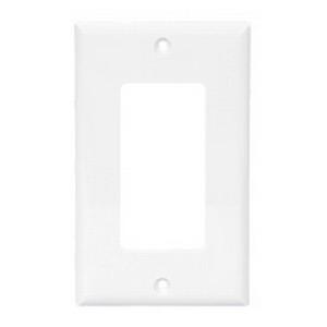 Cooper Wiring 2151LA-BOX 1-Gang GFCI Decorator Wallplate; (1) Decorator, Screw Mount, Thermoset, Light Almond