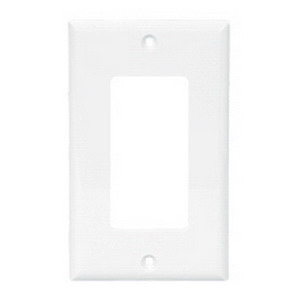 Cooper Wiring 2163LA-BOX 3-Gang GFCI Decorator Wallplate; (3) Decorator, Screw Mount, Thermoset, Light Almond