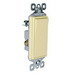 Pass & Seymour TM873-LASL Decorator Switch; 3-Pole, 120 Volt AC, 15 Amp, Light Almond