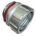 Bridgeport 436-SLT Liquidtight Connector; 2-1/2 Inch, Malleable Iron, Electro-Plated Zinc