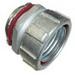 Bridgeport 439-SLT Liquidtight Connector; 4 Inch, Malleable Iron, Electro-Plated Zinc
