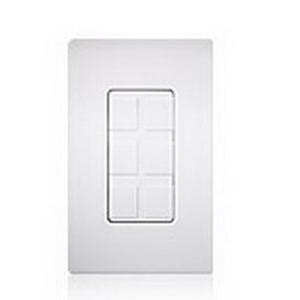 Lutron SC-6PF-TP Satin Colors® Maestro® 1-Gang 6 Port Frame With Blank; Wall Mount, Plastic, Taupe