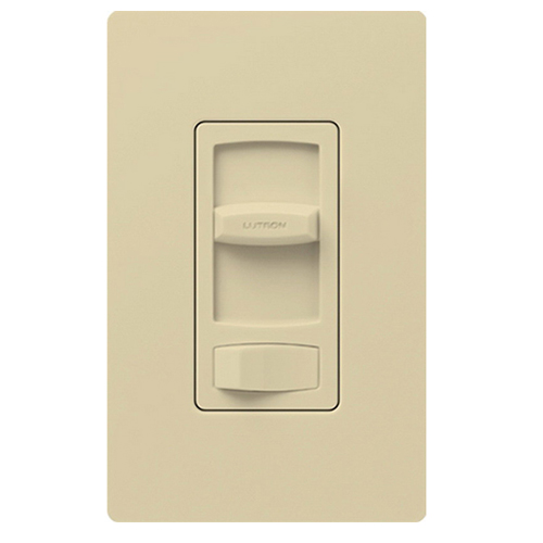 Lutron CTFSQ-F-IV Skylark Contour® 3-Way Fan Control; 120 Volt AC, 1.5 Amp, Single Pole, Rocker Switch, Ivory