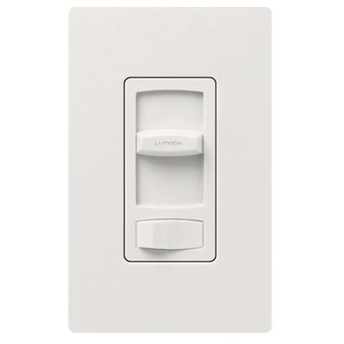 Lutron CTFSQ-F-WH Skylark Contour® 3-Way Fan Control; 120 Volt AC, 1.5 Amp, Single Pole, Rocker Switch, White