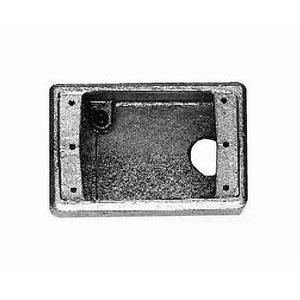 Cooper Crouse-Hinds FDA1 Condulet® 1-Gang FD Cast Device Box; 3-9/16 Inch Depth, Electro-Galvanized, (1) 1/2 Inch Hub