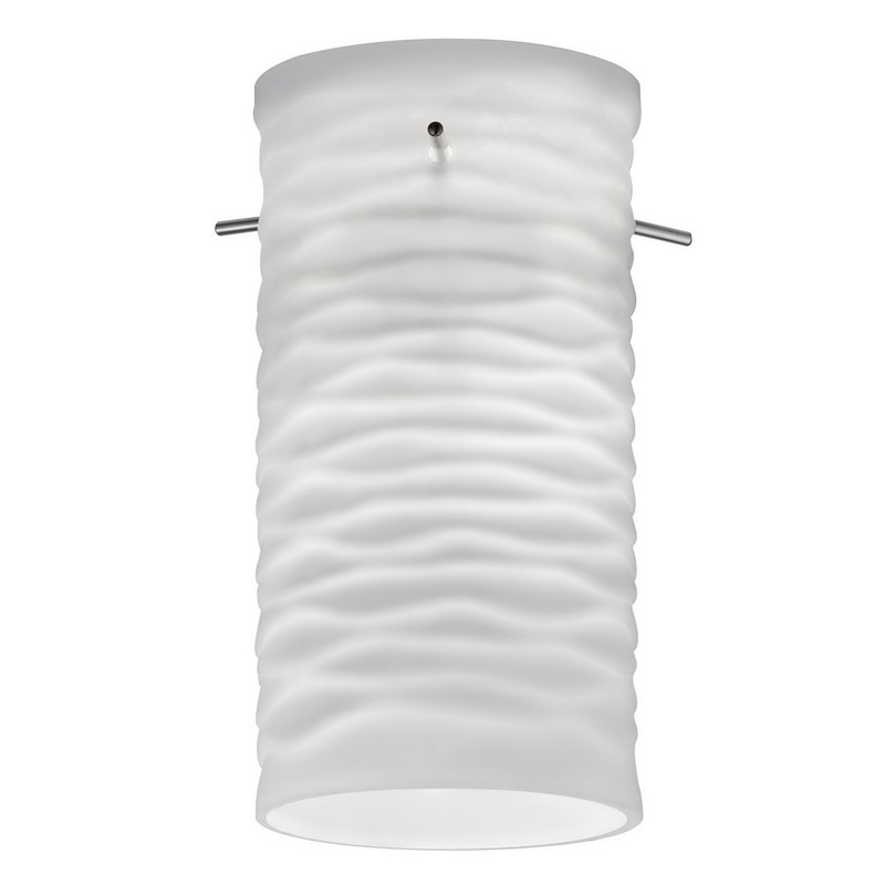 Lithonia Lighting / Acuity DGWV-1003-M6 Modern Cylinder Wave Shade; Frosted White