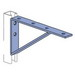 Unistrut P1773HG Bracket; 1-5/8 Inch Length x 12-1/2 Inch Width x 6 Inch Height, Steel, Hot-Dip Galvanized