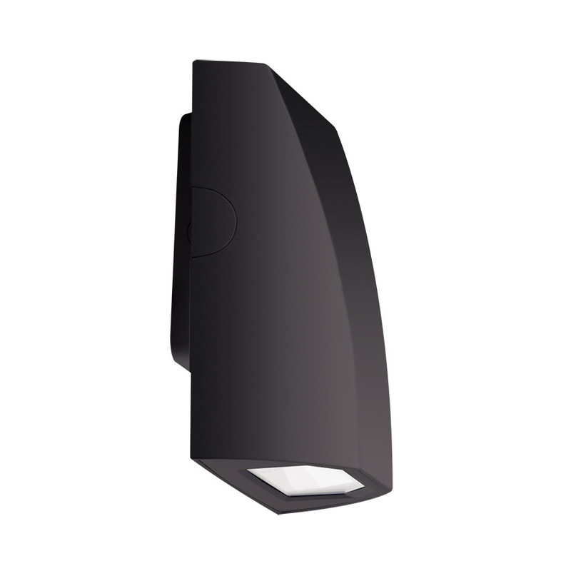 RAB SLIM12N/PC Traditional Full Cut-Off LED Wall Pack 12 Watt  120 Volt  Polyester Powder-Coated