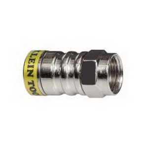 Klein Tools VDV812-627 F Push-On Connector Solid Brass  Bright Nickel