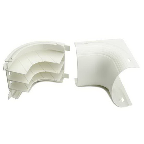 Hellermann Tyton MCRFW-IE InfoStream Raceway Elbow; Polystyrene, High Impact Resistant, Office White