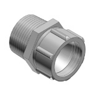 Thomas & Betts 2433 Watertight Connector 1 Inch  Die-Cast Zinc