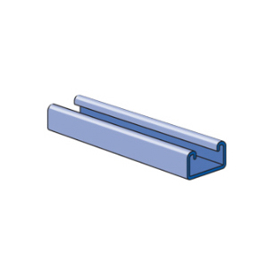 Unistrut P3300SS Metal Framing Channel; 7/8 Inch x 1-5/8 Inch, 12 Ga, Stainless Steel