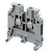 ABB 1SNA115118R1100P Entrelec® Feed-Thru Terminal Block; 41 Amp, 600 Volt, Screw Clamp, G32, TH35-7.5, TH35-15 Din Rail Mount, Steel Clamp, Gray