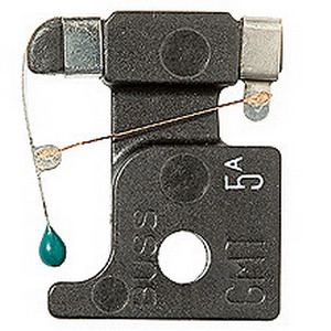 Bussmann BK/GMT-7-1/2A Fast-Acting Fuse; 7-1/2 Amp, 125 Volt AC, 60 Volt DC, Snap-In Mount, Quick Connect