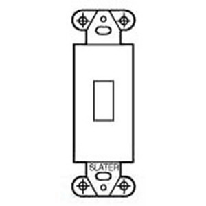 Pass & Seymour 327-W Toggle Switch Wallplate Mounting Strap; Box Mount, Steel, Painted, White