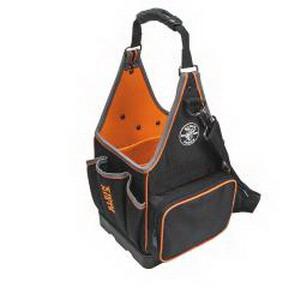 Klein Tools 554158-14 tradesman Pro™ Tote; 20 Pockets, Polyester, Black/Orange