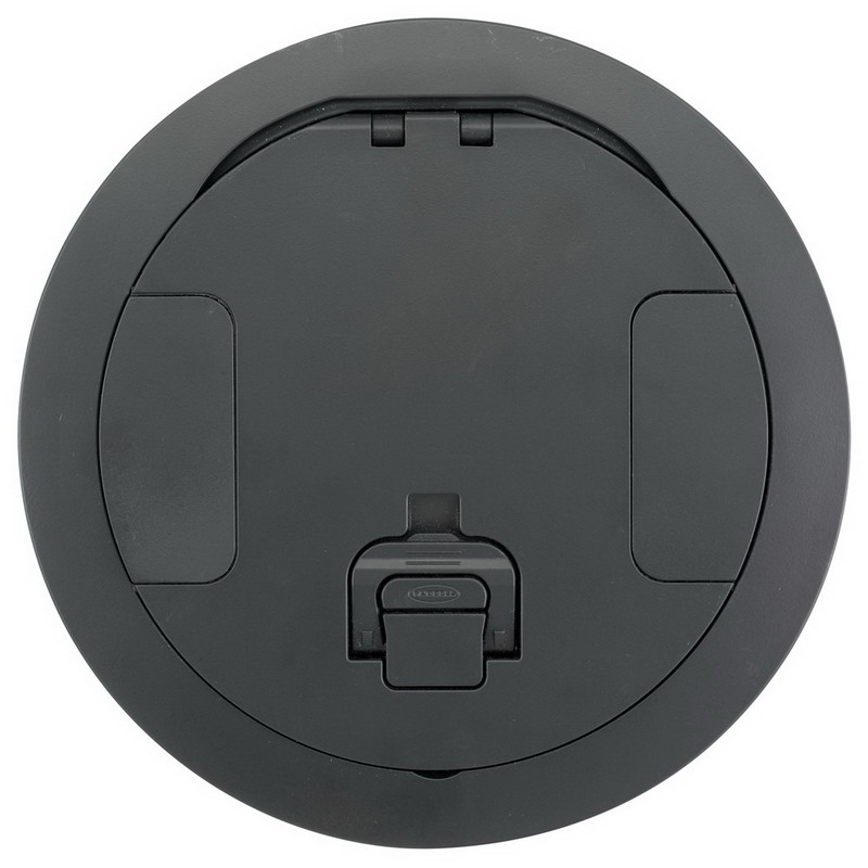 Hubbell Wiring S1R8CVRBLK Scrubshield® Recessed Cover; Composite