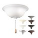 Kichler 338509MUL Accessory Collection B10 Incandescent Fan Light Kit; 60 Watt, 120 Volt, 11 Inch Width x 5 Inch Height, Opal Etched Glass