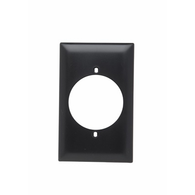 Pass & Seymour TP724 tradeMaster® 1-Gang Power Outlet Receptacle Wallplate; (1) Power Outlet Receptacle, Screw, Wall Mount, Nylon, Matte, Brown