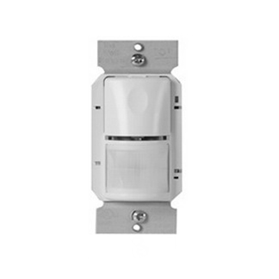 Watt Stopper WS-301-W Passive Infrared Occupancy Sensor; 120/277 Volt AC, 35 ft x 30 ft (Major Motion), 20 ft x 15 ft (Minor Motion), 525 Sq ft IR Range On Axis, Automatic On/Off, Manual Off, Wall Switch Mount, White