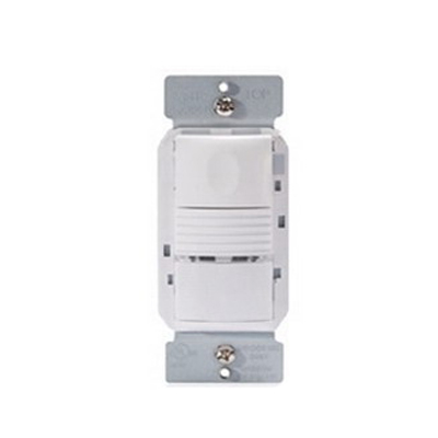 Watt Stopper PW-301-W Passive Infrared Multi-Way Occupancy Sensor; 120/277 Volt AC, 35 ft x 30 ft (Major Motion), 20 ft x 15 ft (Minor Motion), 525 Sq ft IR Range On Axis, Automatic On/Off, Manual On/Off, Wall Switch Mount, White