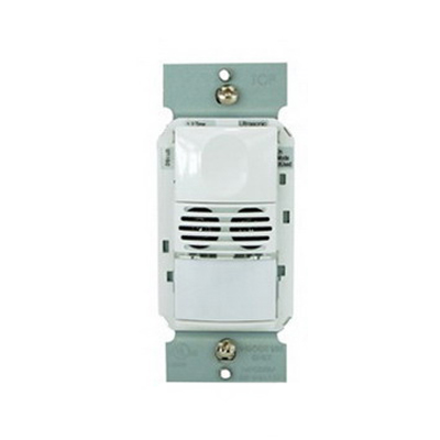 Watt Stopper DSW-302-I Dual Technology Passive Infrared and Ultrasonic Dual Relay Occupancy Sensor; 120/277 Volt AC, Automatic On/Off, Manual On/Off, Wall Switch Mount, Ivory
