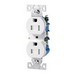 Cooper Wiring TR270B Straight Blade Duplex Receptacle; 15 Amp, 125 Volt AC, 2-Pole, 3-Wire, Side Wire and Push Wire Mount, Brown