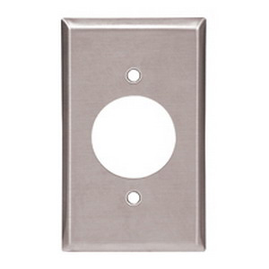 Cooper Wiring 93223-BOX Arrow Hart™ Eagle® 2-Gang Power Outlet Wallplate; 1 - 4 Wire Receptacle, Screw Mount, 302/304 Stainless Steel, Brushed Satin