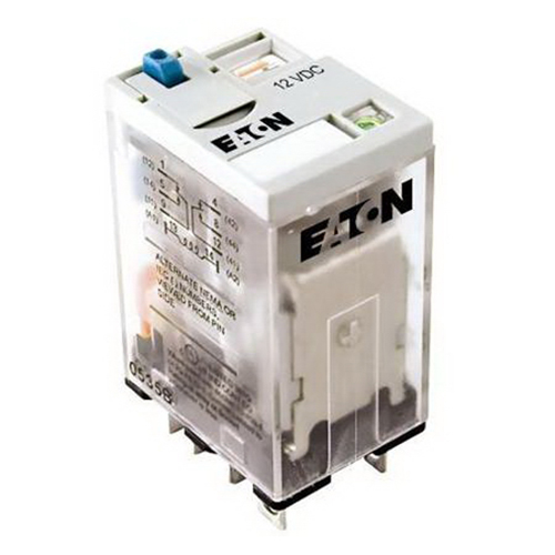 Eaton / Cutler Hammer D7PF2AR1 General Purpose Plug-In Relay; 15 Amp, 12 Volt DC, DPDT, 2 Pole