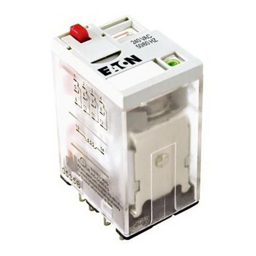 Eaton / Cutler Hammer D2PF4AR1 General Purpose Plug-In Relay; 10 Amp, 12 Volt DC, 4PDT, 4 Pole