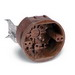 Union 4070-302 4-Gang Round Ceiling/Fixture Outlet Box; 2.375 Inch Depth, Phenolic, Brown, 20.8 Cubic-Inch