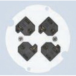 Hubbell Wiring S1R4SPQUAD Scrubshield Device Plate With Four Receptacle