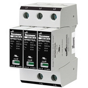 Bussmann BSPM1120S2GR Made Simple™ Surge Protection Device; 18 mm Width x 90 mm Height x 65 mm Depth, 120 - 127 Volt AC, 20 Kilo-Amp, 1-Phase, Thermoplastic
