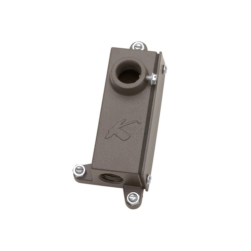 Kichler 15609AZT Accessory Collection Junction Box Mounting Bracket 12 Volt  5.500 Inch Length x 2.500 Inch Width x 1.750 Inch Height  Cast Aluminum Alloy