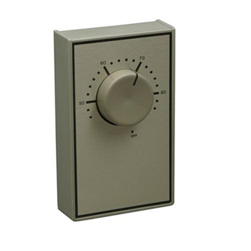 Marley WR651 Berko® Qmark® Line Voltage Thermostat; 120/240/277 Volt, 22 Amp At 120/240 Volt, 18 Amp At 277 Volt, White
