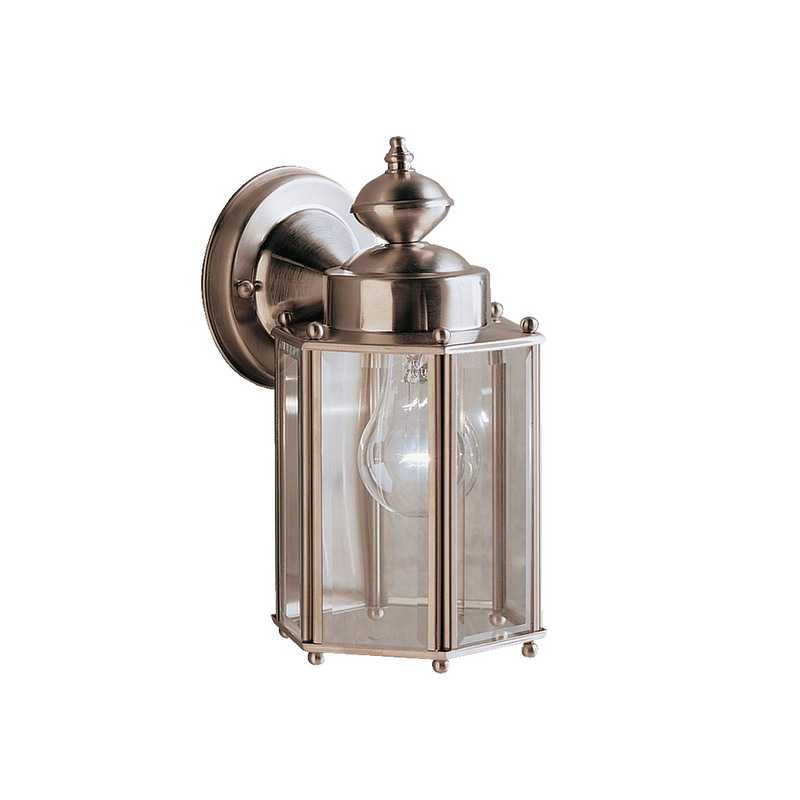 Kichler 9618SS Outdoor Collection 1-Light Incandescent/Hybrid Compact Fluorescent Wall Sconce; 100 Watt, Stainless Steel