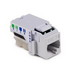Hellermann Tyton RJ11FC3-FW Category 3 RJ11 Modular Keystone Jack; RJ45 Female, 1-Port, 6-Position, Flush Mount, Acrylonitrile Butadiene Styrene