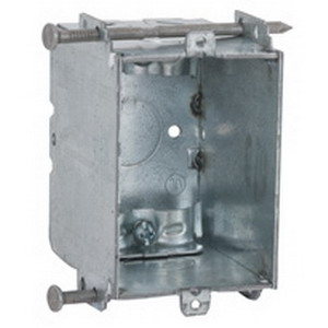 Hubbell Electrical / RACO 355 Switch Box; 2-37/32 Inch Depth, Steel, 15.8 Cubic-Inch, 1 Knockouts