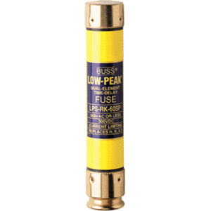 Bussmann LPS-RK-1/2SP Low-Peak® Time-Delay Fuse; Class RK1, 1/2 Amp, 600 Volt AC, 300 Volt DC, Holder Mount, Clip
