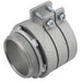 Hubbell Electrical / RACO 2112 Squeeze Connector; 3 Inch, Malleable Iron, Electro-plated Zinc