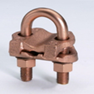 Hubbell Electrical / Burndy GAR1826 Grounding Connector; Cable To Rod Or Pipe, High Copper Alloy Body, Silicon Bronze Hardware