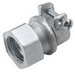 Hubbell Electrical / RACO 1943 Flex Coupling; 3/4 Inch EMT x 3/4 Inch Flex, Malleable Iron, Electro-Plated Zinc