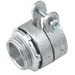 Hubbell Electrical / RACO 2102 Squeeze Connector; 0.500 Inch, Malleable Iron, Electro-plated Zinc
