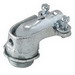 Hubbell Electrical / RACO 2205 90 Degree Squeeze Connector; 1.250 Inch, Malleable Iron, Electro-plated Zinc