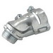 Hubbell Electrical / RACO 2221 45 Degree Squeeze Connector; 0.375 Inch, Malleable Iron/Die-Cast Zinc