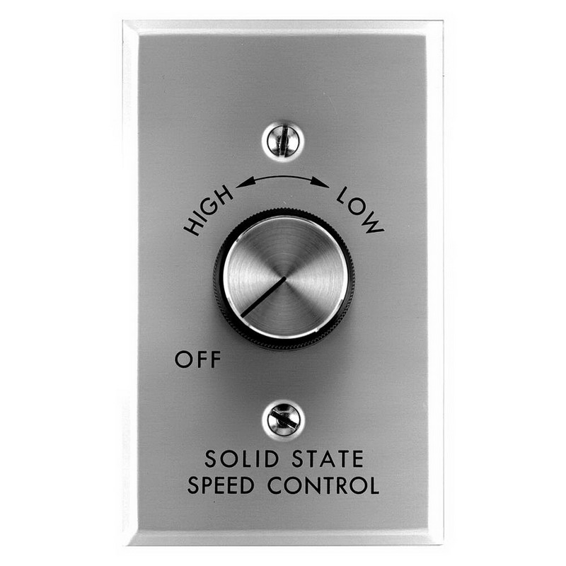 Marley 12012 Leadingedge® Motor Speed Control; 4-1/2 Inch Length x 4-1/2 Inch Width, 120 Volt, 12 Amp, Aluminum, Satin